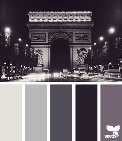 parisian tones - I never thought I would call grey rich, but in this case the shades really are