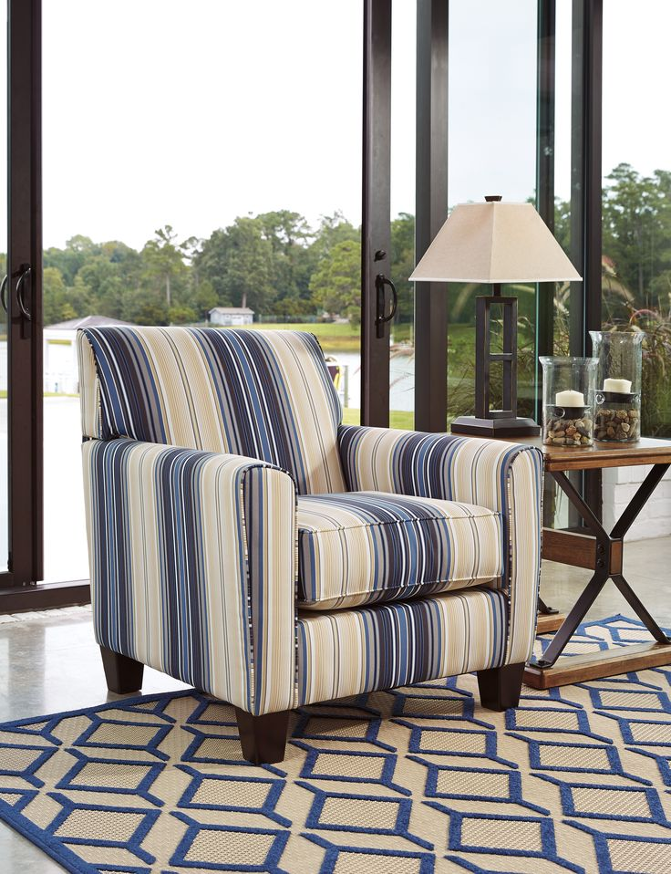 Ayanna Nuvella Accent Chair #livingroom #accentchair #accentchairwithstripes