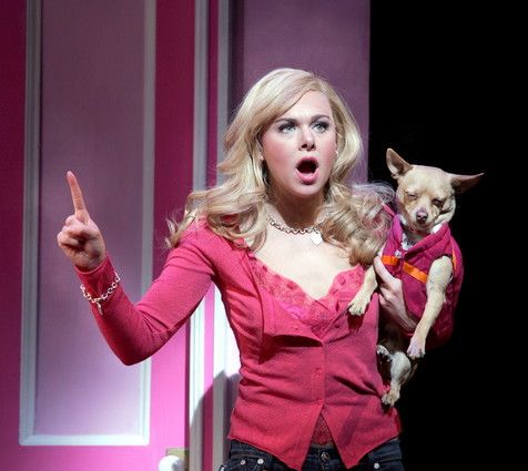 Legally Blonde, the Musical. With Laura Bell Bundy as Elle Woods. it is a lot better better than the movie!