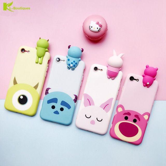iPhone 8-plus Phone Funda 3d Cute Cartoon Kawaii Animal Seri
