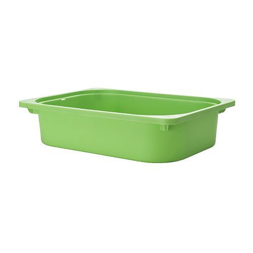 For kids craft supplies - TROFAST Storage box IKEA Fits in TROFAST frames. Stackable when used with a lid.