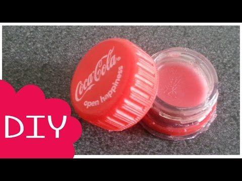 Geen last van droge lippen! Maak van een oude colafles en je favoriete frisdrank deze heerlijke DIY lippenbalsem + container! - Zelfmaak ideetjes