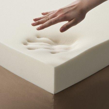 """Enhance 4"""" Memory Foam Topper - White : Target"""