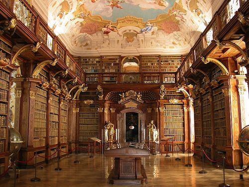 50 Most Beautiful Libraries in the World 8-Melk-Abbey-Library-Melk-Austria