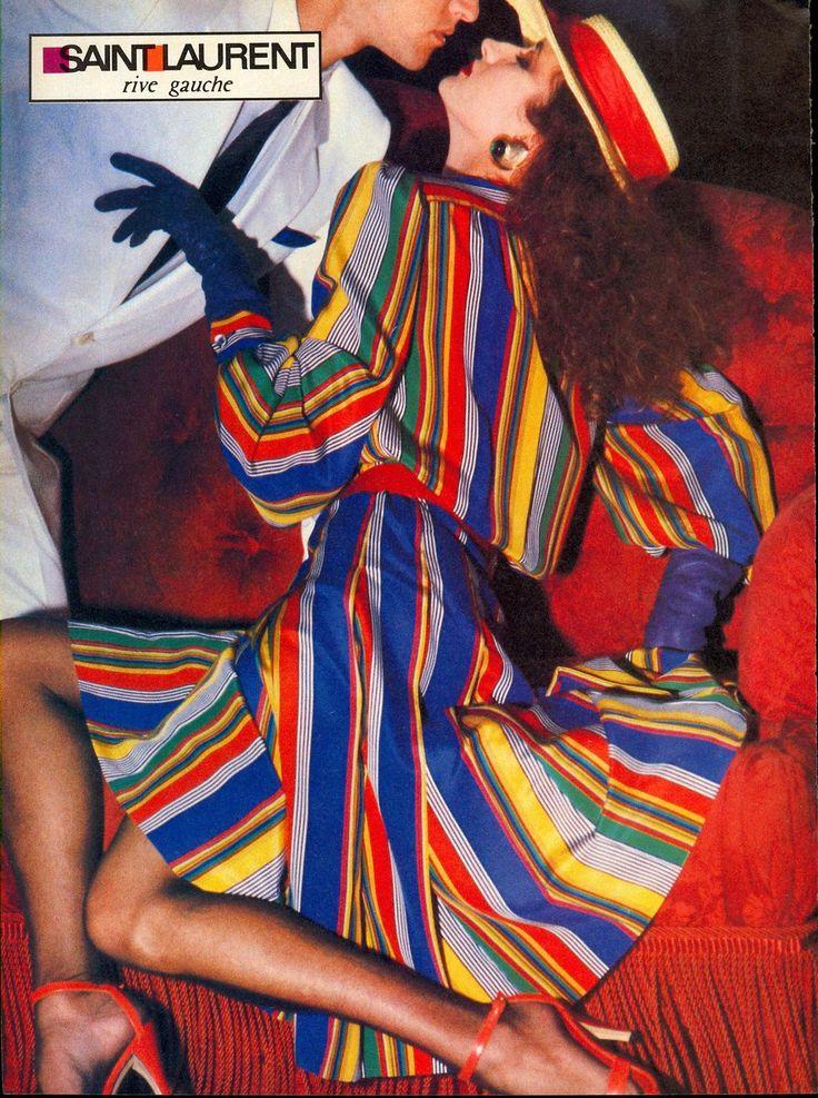 Helmut Newton • 1982 For Yves Saint Laurent Rive Gauche Spring-Summer - Violetta Sanchez and unknown model, For US Vogue March.