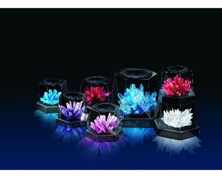 Teach children about the beauty and complexity of crystal growth with the 4M Crystal Growing Experiment. This science kit contains all the materials needed to perform seven different crystal growth experiments
