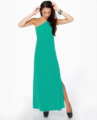LULUS Exclusive Temptress Teal Maxi Dress