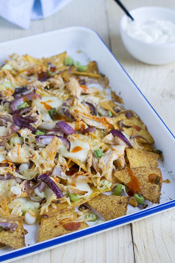 Buffalo chicken nacho's | via brendakookt