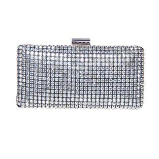 Papaya Silver Small Clasp Bag