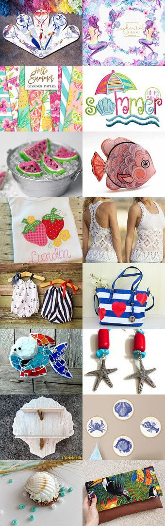 SUMMER  by Miss Style on Etsy--Pinned+with+TreasuryPin.com