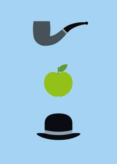 Magritte: Minimalist Posters, Rene Magritte Art Lesson, 400 560 Pixel, Art Icons, Painters, Art History, Minimalist Graphics, Icons Posters, Magritte 1898 1967