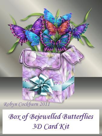 Box of Bejewelled Butterflies 3D Card Kit