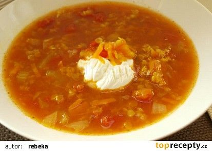 Anglická polévka z červené čočky recept - TopRecepty.cz