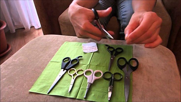 Как заточить ножницы дома за 5 минут.Маленький советик, но полезный.Ножн...