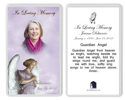 memorial cards for funerals