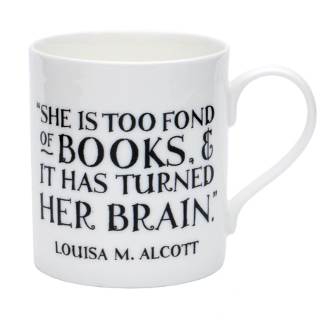 The perfect quotation for female book lovers printed on a perfectly designed mug.  Details: bone china.