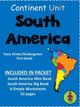 Included in this unit:Mini Books:      South America Mini Book have three versions:   Mini Book with text and colored pictures   Mini Book with traceable text and pictures to color   Mini Book with blank text lines and pictures to colorBig Books:      Fill size South America Book with two versions:   Big Book with text and colored pictures   Big Book with blank text space with pictures to colorWriting Worksheets:   8 Writing Worksheets with trace text and pictures to color Related…