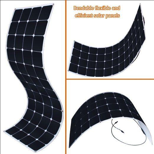 Kingsolar 150w Semi Flexible Solar Panel Black Solar