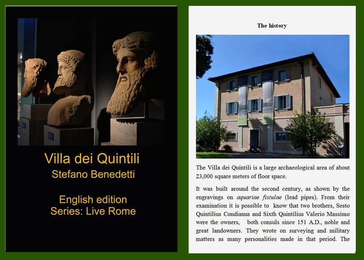 The best of #Amazon.com: #Villa dei #Quintili (Live #Rome Book 1) http://amzn.to/2kXOSH3