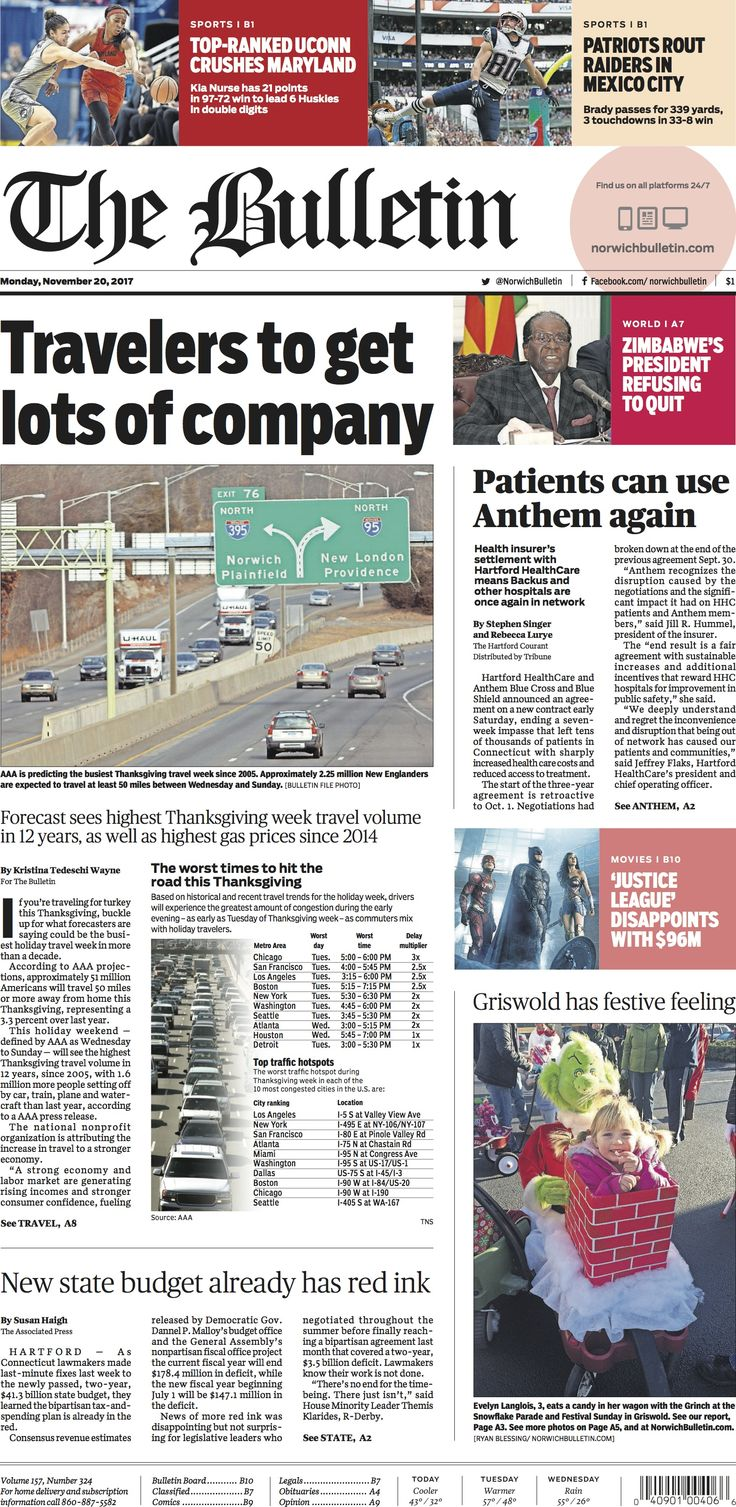 Monday, November 20, 2017 - Subscribe to The Bulletin today: http://www.norwichbulletin.com #ctnews #newlondoncounty #windhamcounty