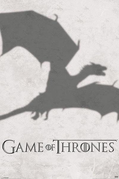 Póster Juego de Tronos. Dragón