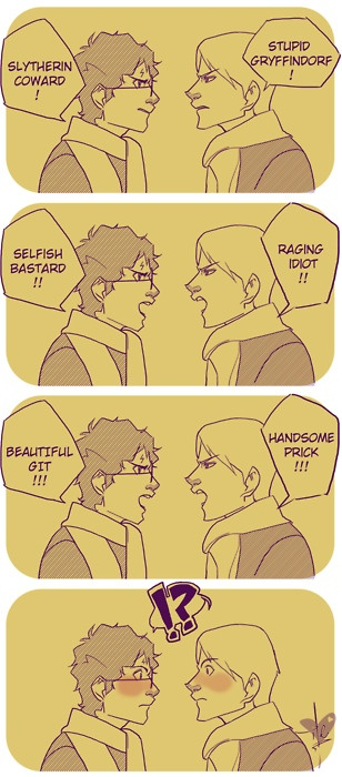 Reminds me of a fanfiction I once read, Freudian Slip by jennavere / drarry