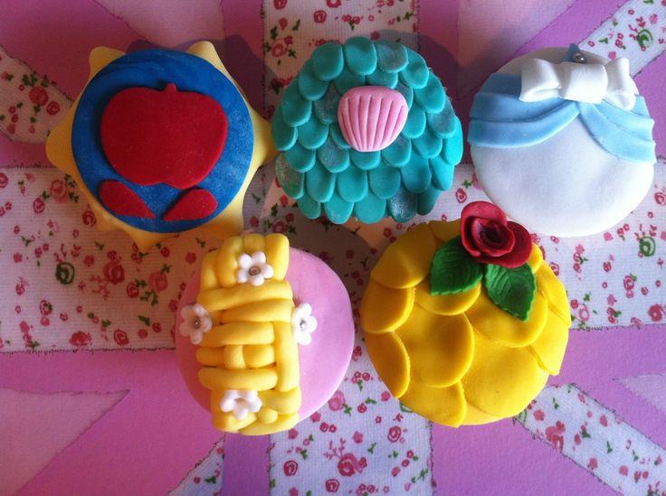 Disney Princess CupCakes by @MyCake Hole