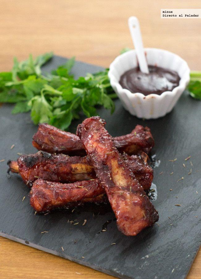 Costillas de cerdo glaseadas con salsa Hoisin. Receta con fotos del paso a paso y la presentación. Trucos y consejos de elaboración. Recetas de c...