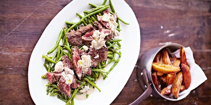 Secret Steak & Chips with Garlicky Green Beans