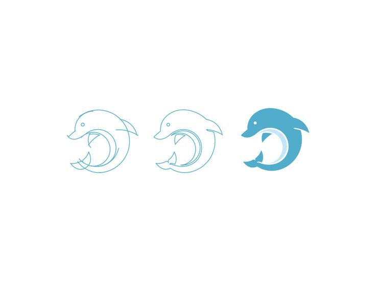Dribbble - Dolphin by Neil Burnell