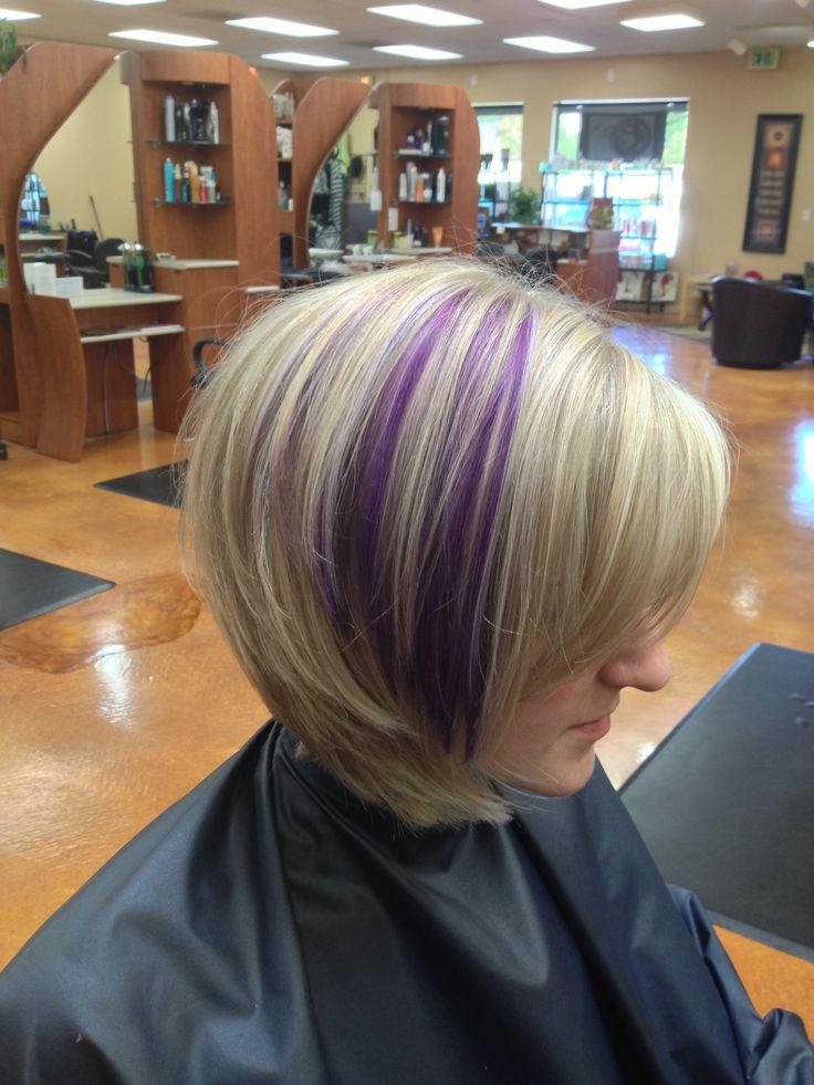 Blonde With Purple Peekaboo Highlights Hair Pinterest