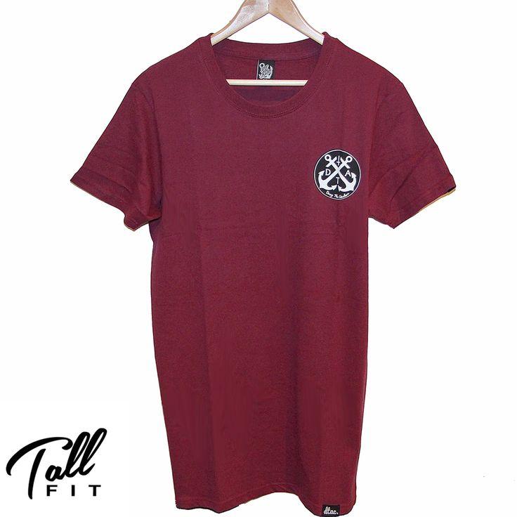 DTAC logo Tall Tee (Maroon)