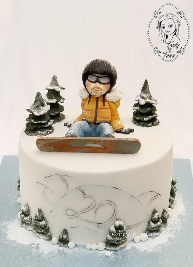 snowboard cake by grasie