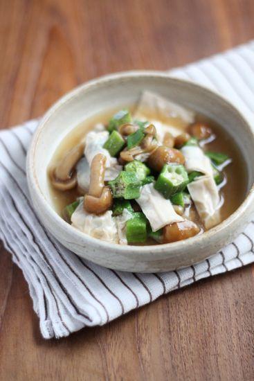 オクラと生湯葉の煮びたし - 【E・レシピ】料理のプロが作る簡単レシピ