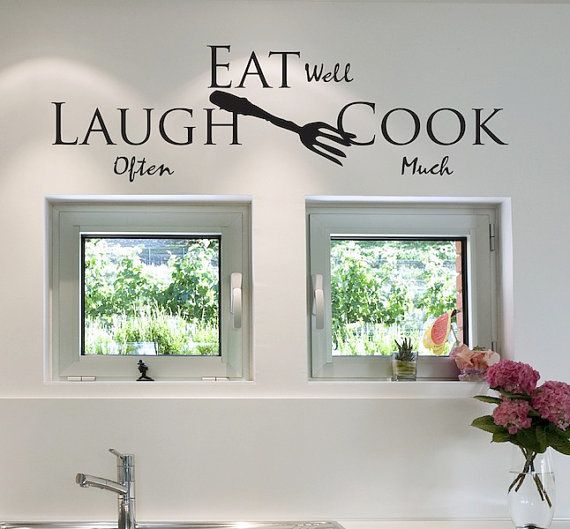 Best  Kitchen Vinyl Sayings Ideas Only On Pinterest Kitchen - Custom vinyl wall decals sayings for dining room