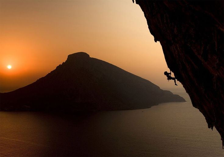 """""""climbing on the greek island of kalymnos at sunset"""" by Lukasz Warecha (c National Geographic). from onebigphoto.com"""