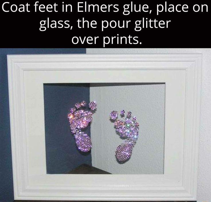 Cute alternative to plain black ink footprint for a girl