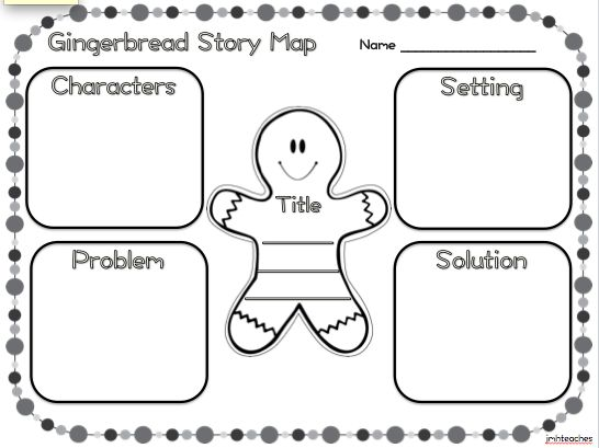 Gingerbread Freebie! Story map and beginning, middle, and