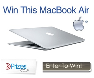 Win this Stunning MacBook Air  This amazingly thin Laptop is simply awesome, with its new processor it pushes performance to new limits. Mega protable performance wrapped up beautifully !  FREE