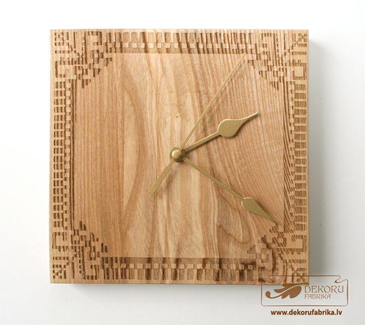 Clock With Latvian Signs http://www.dekorufabrika.lv/lv/online-store/details/109/66/suven%C4%ABri-un-d%C4%81vanas-souvenirs-and-gifts/latvju-raksti-ancient-latvian-signs/pulkstenis-