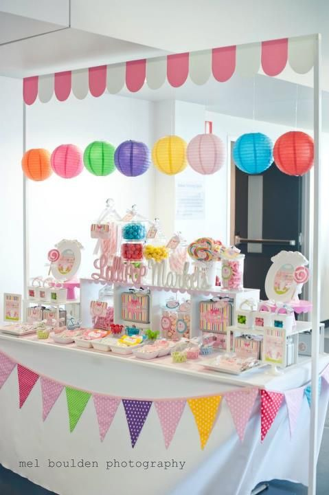 Decoracion de mesa estilo candy bar.