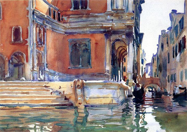 "John Singer Sargent  -  ""Scuola di San Rocco"", 1903  watercolor"