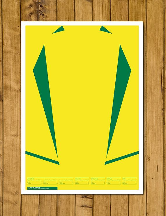 Brazil - World Cup Champions 2002 Poster by headfuzzbygrimboid, $15.00 found on etsy.com