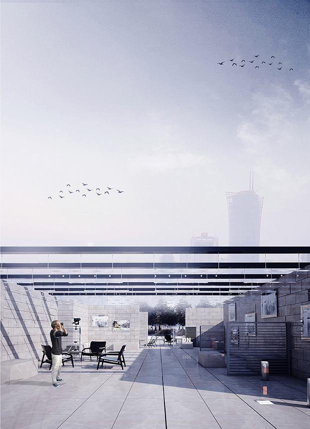 Zdjęcie numer 3 w galerii - Studenci zaprojektowali tarasy na dachach PKIN. Tak może wyglądać dach w wielkim mieście