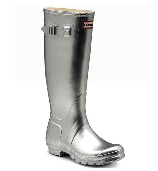 I've always wanted Wellies.  These platinum ones are cool!