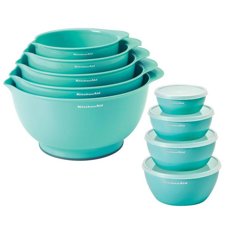 KitchenAid Mixing Bowls & Prep Bowls 9-Piece Set (Assorted Colors) - Sam's Club