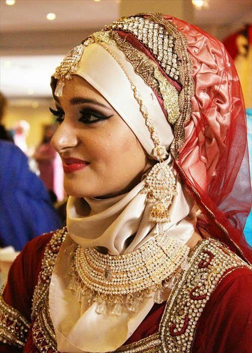 Indian bridal wear with hijab