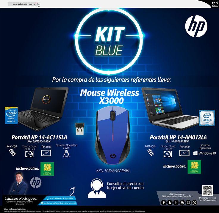 Kit Blue HP: Contacta a tu gerente de producto para más información: Eddison Rodriguez Celular: 312 459-0051 Email: eddison.rodriguez@sed.international #HP #SEDColombia
