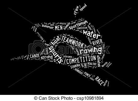 rowing silhouette