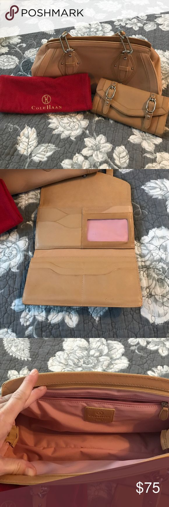 Cole Haan purse and wallet set with dust bag Really nice condition. Cole Haan Bags Shoulder Bags